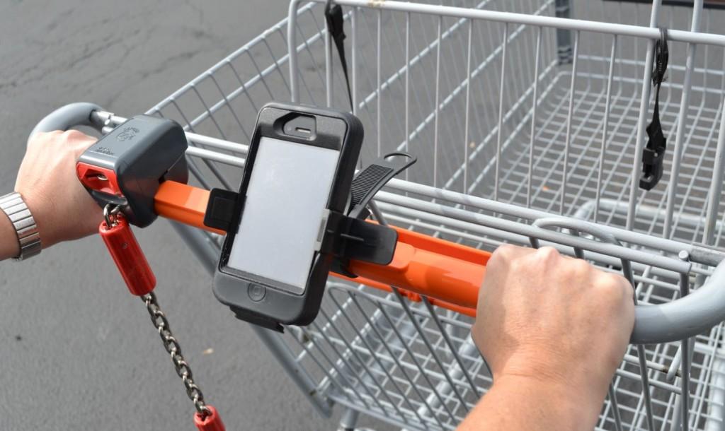 Radar Detector App >> Grocery Cart Mounts for iPhone SmartPhones Tablets